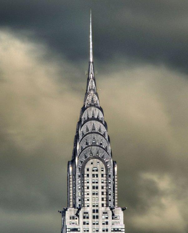 Chrysler Building contrasted against the clouds