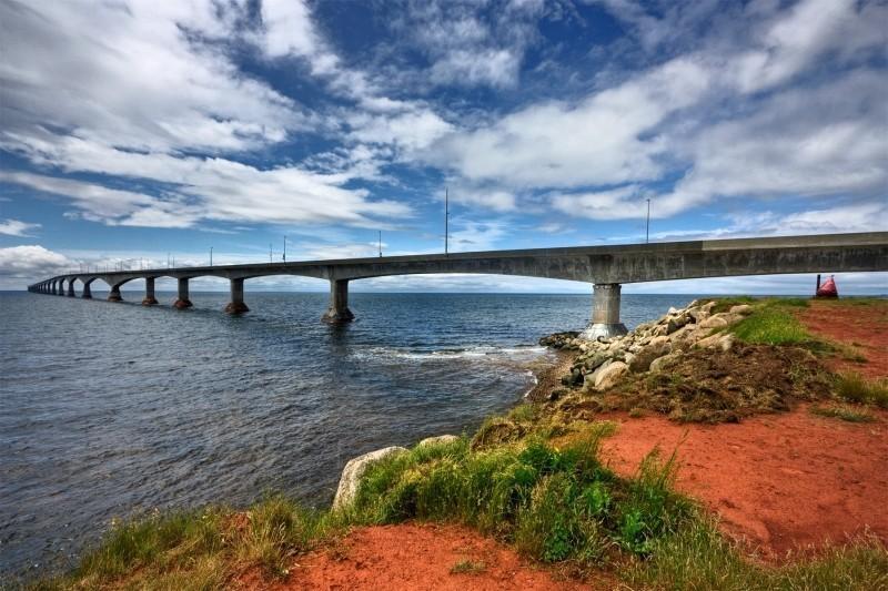 View of Confederation Bridge from Prince Edward Island